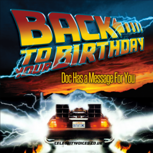 back to the future birthday message
